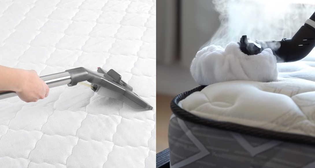 limpiar un colchon viscoelástico con vaporeta o aspiradora